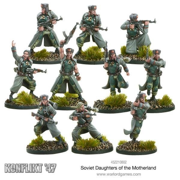 Warlord games Konflikt '47: Soviet- Daughters of the Motherland