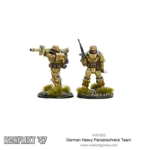 Warlord games Konflikt '47: German- Heavy Panzerschreck Team