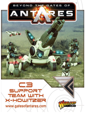 Warlord games Beyond the Gates of Antares: Concord- C3 Support Team w/ X-Howitzer
