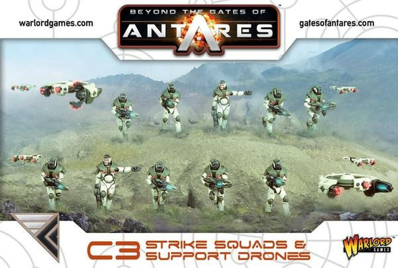 Warlord games Beyond the Gates of Antares: Concord- Strike Squad & Support Drones