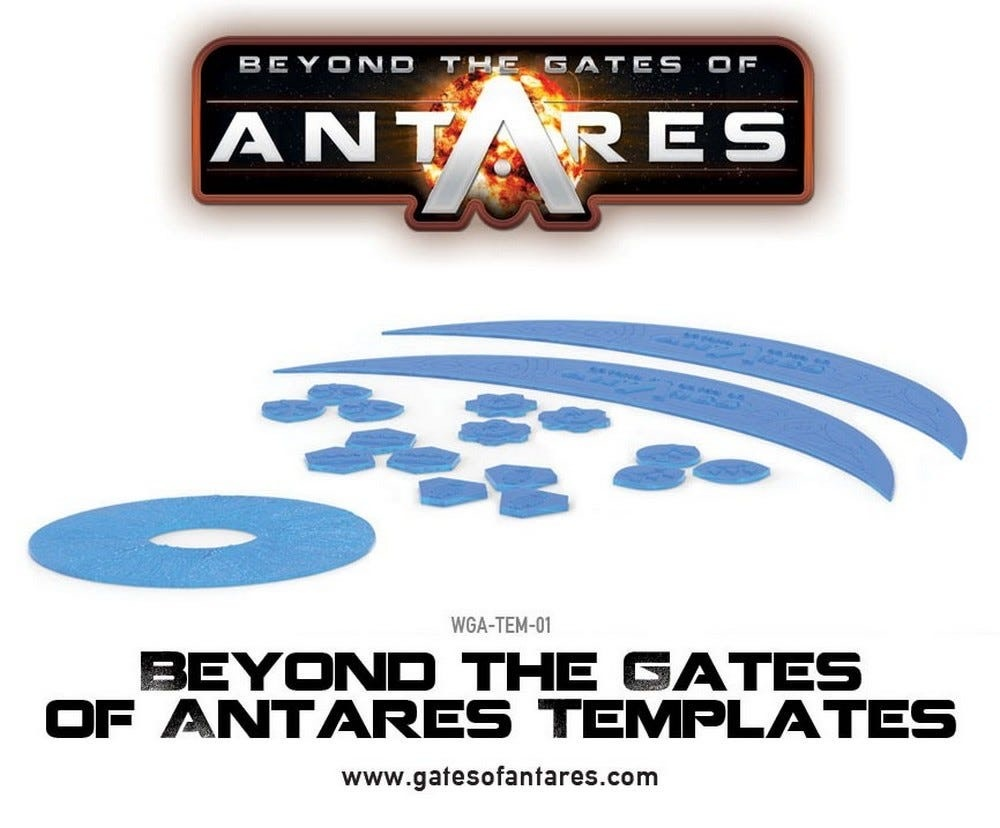 Warlord games Beyond the Gates of Antares: Templates