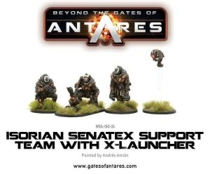 Warlord games Beyond the Gates of Antares: Isorian- Sentax Support with launcher
