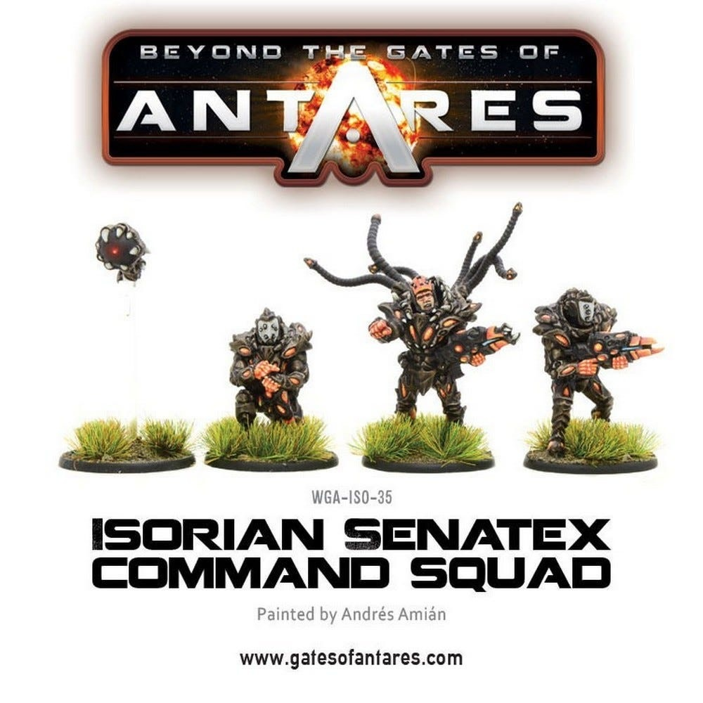 Warlord games Beyond the Gates of Antares: Isorian- Sentax command squad