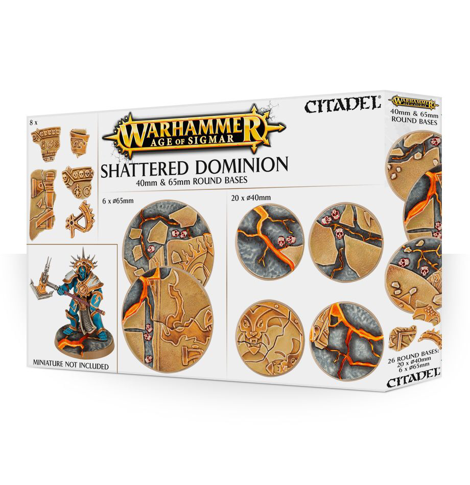 Games Workshop Warhammer Sigmar: Shattered Dominion 40mm & 65mm Round Bases