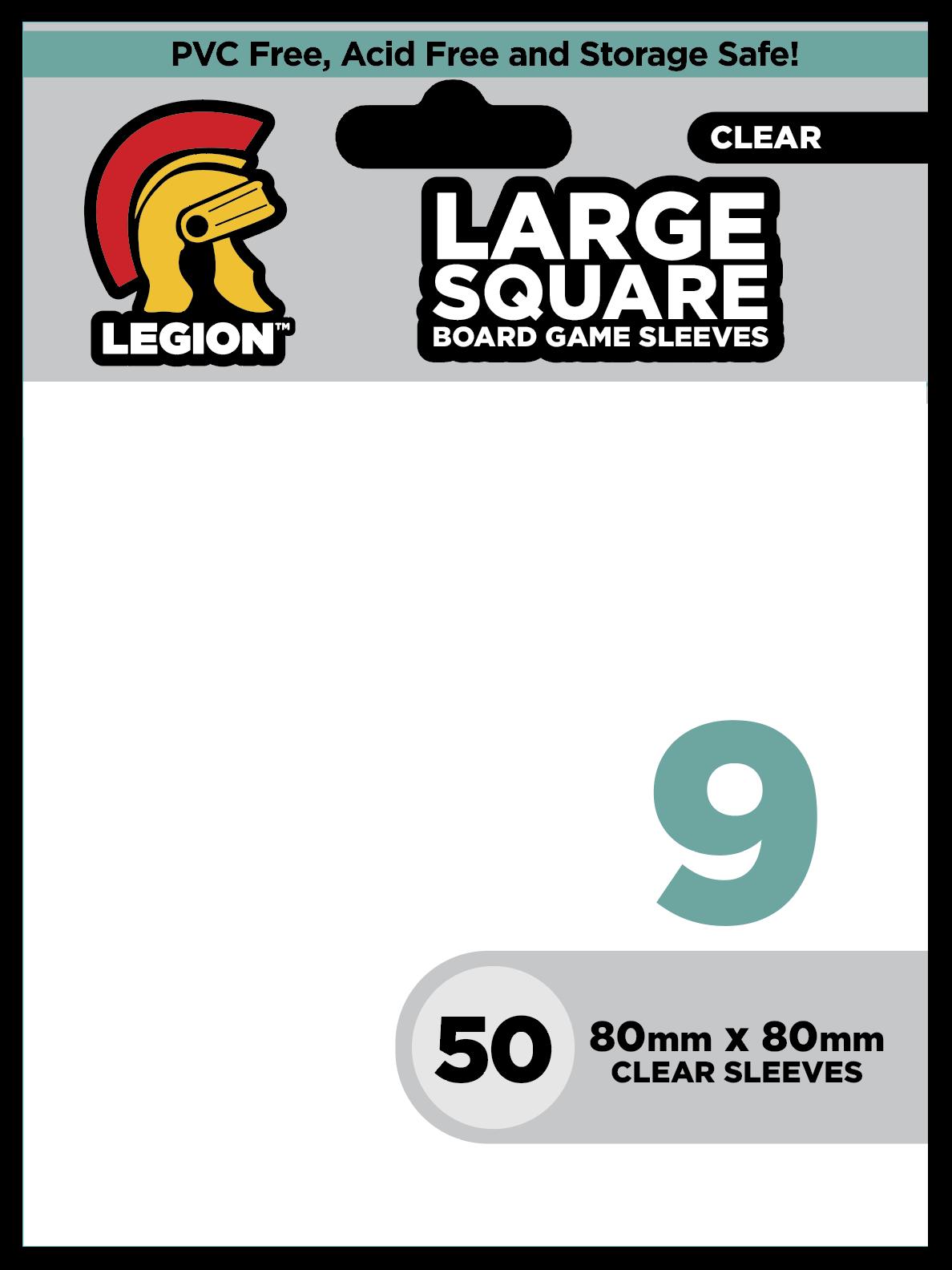 Legion Legion Sleeves clear: Large square 9 (50)