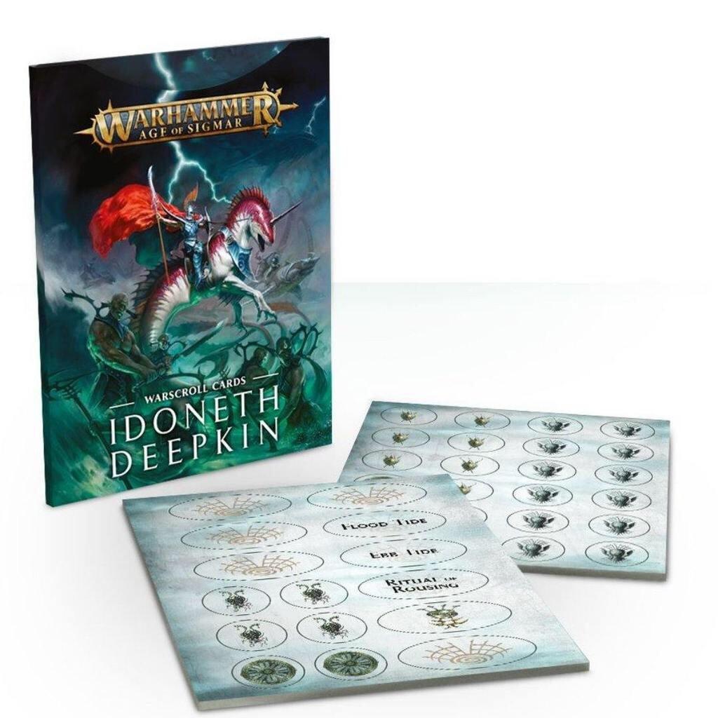 Games Workshop Warhammer Sigmar Warscrolls Cards: Idoneth Deepkin