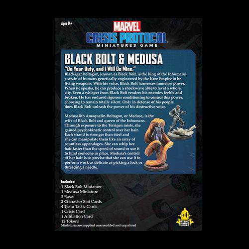Atomic Mass Games Marvel Crisis Protocol: Black Bolt & Medusa
