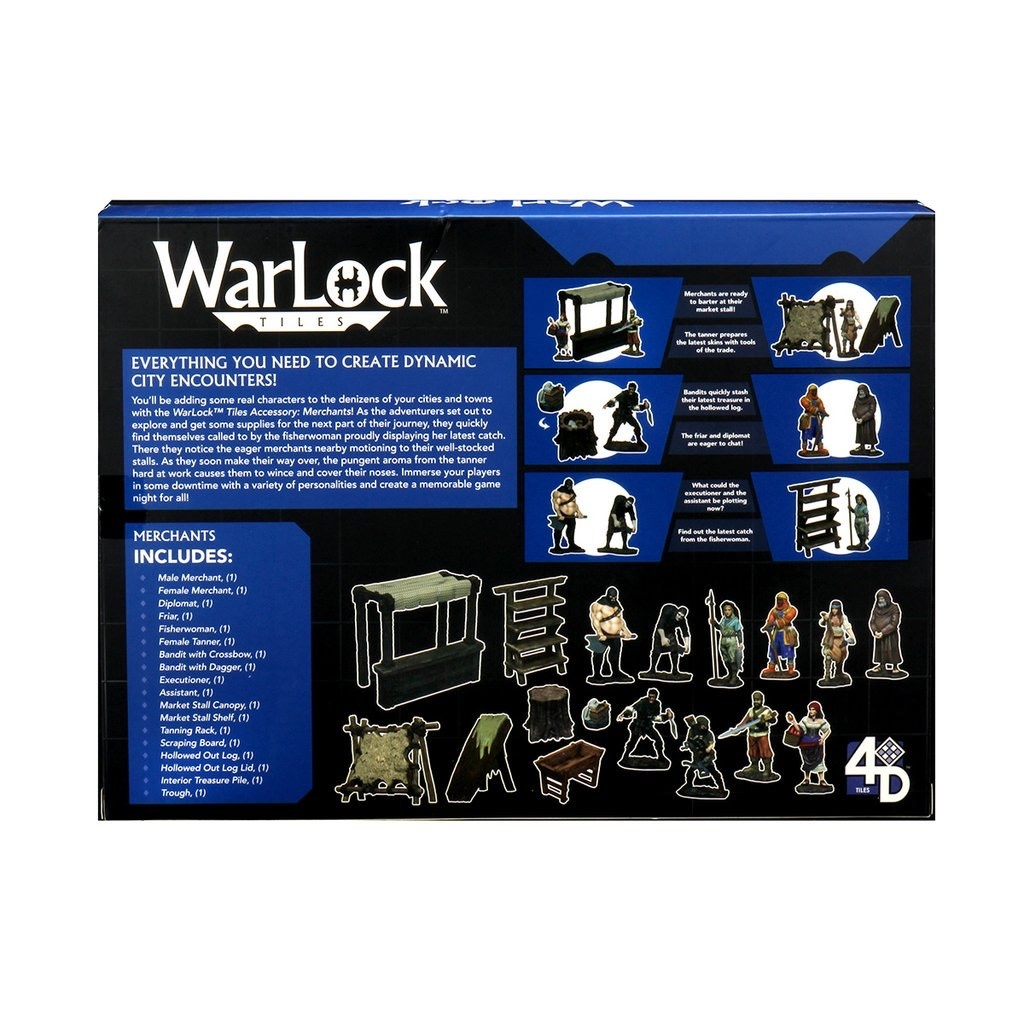 Wizkids Warlock Tiles: Merchants