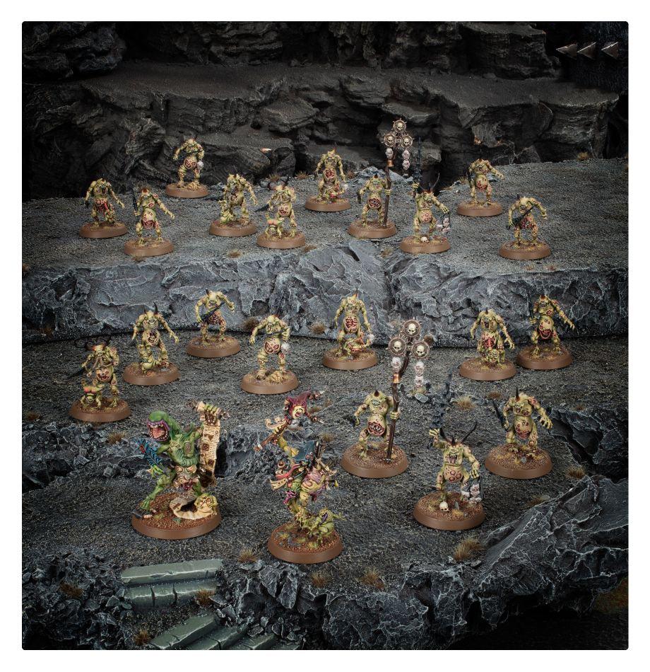 Games Workshop Warhammer Sigmar: Invidian Plaguehost- Gortle Pulpskull
