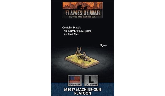 Flames of War Flames of War: US- M1917 Machine-gun Platoon