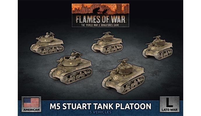 Flames of War Flames of War: US- M5 Stuart Tank Platoon (late)