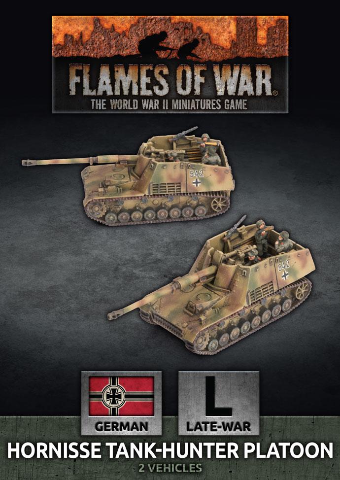 Flames of War Flames of War: German- Hornisse Tank Hunter Platoon (late)