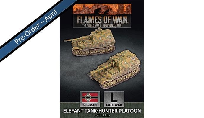 Flames of War Flames of War: German- Elefant Tank hunter Platoon