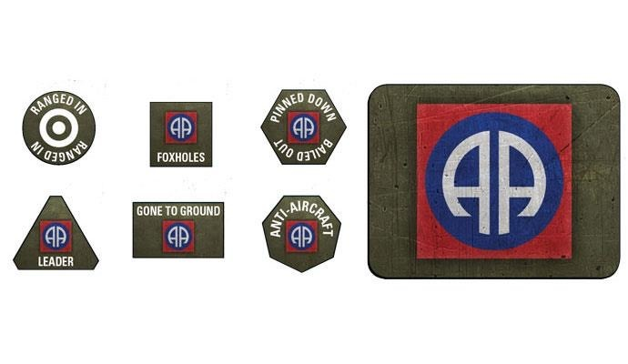Flames of War Flames of War: American- 82nd Airborne Division Token and Objective Set Late-War