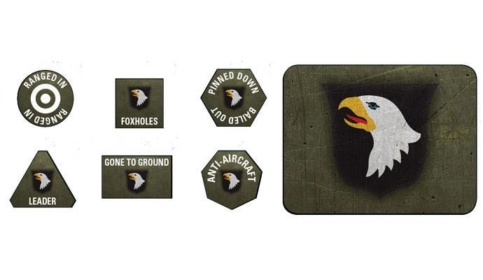 Flames of War Flames of War: American- 101st Airborne Division Token & Objective Set Late-War