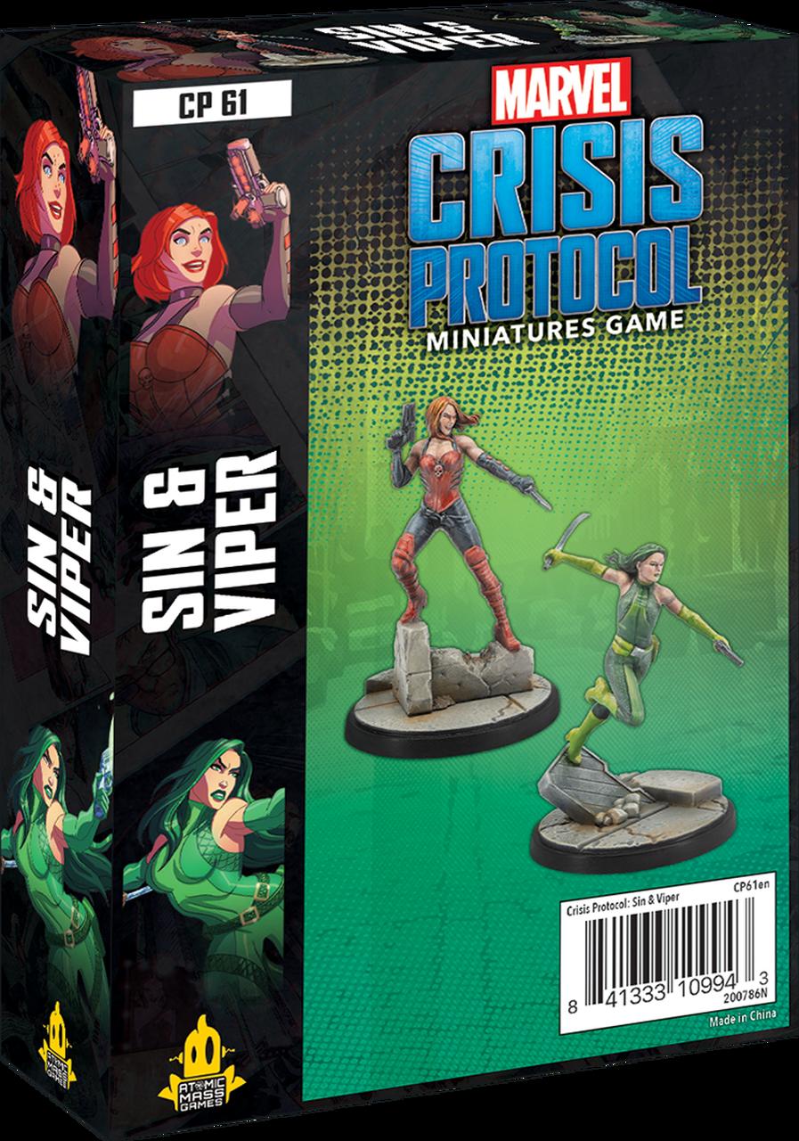 Atomic Mass Games Marvel Crisis Protocol: Sin & Viper
