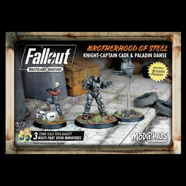 Modiphius Fallout Wasteland Warfare: Brotherhood- Knight Captain Cade & Paladin
