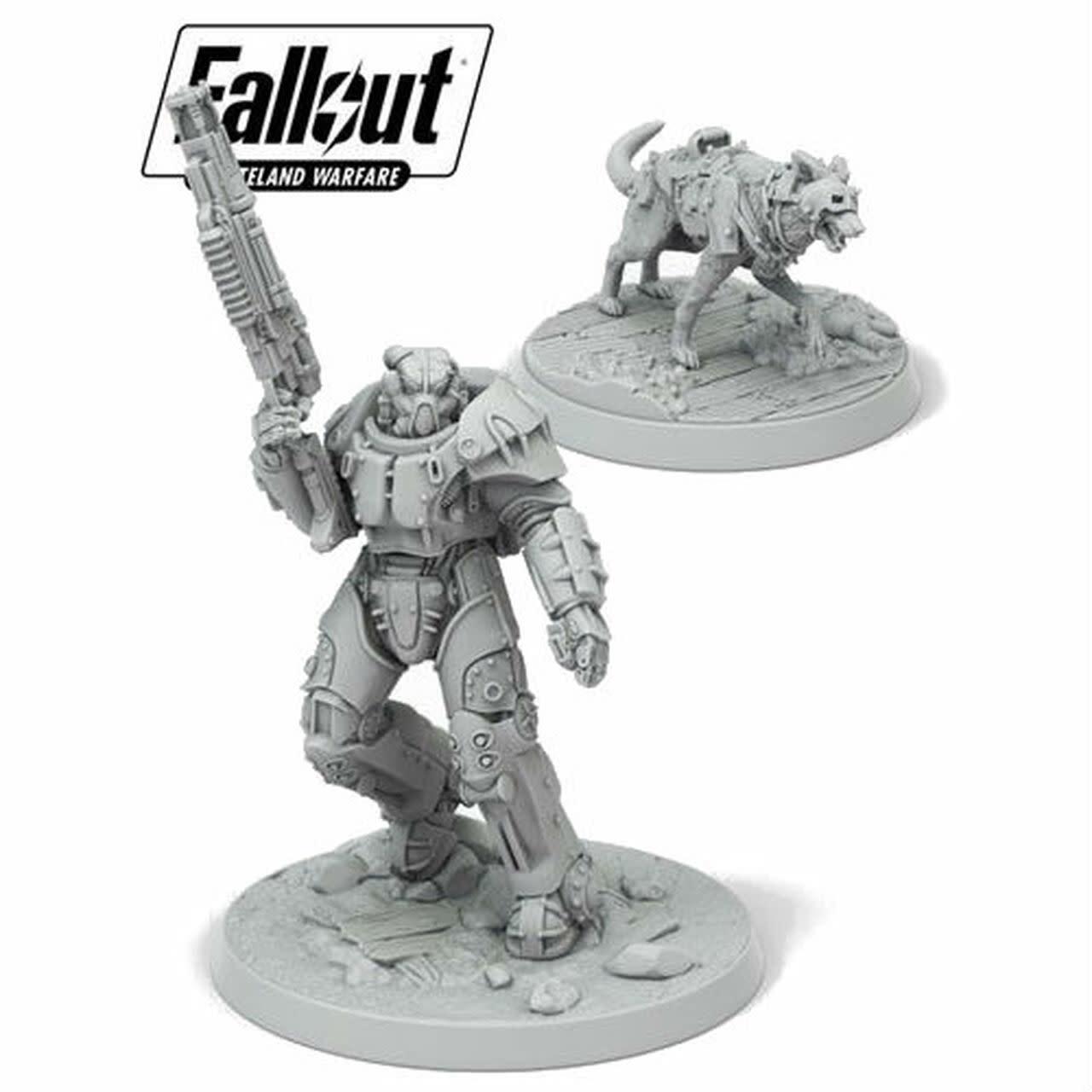 Modiphius Fallout Wasteland Warfare: Survivors- X-01 Survivor & Dogmeat