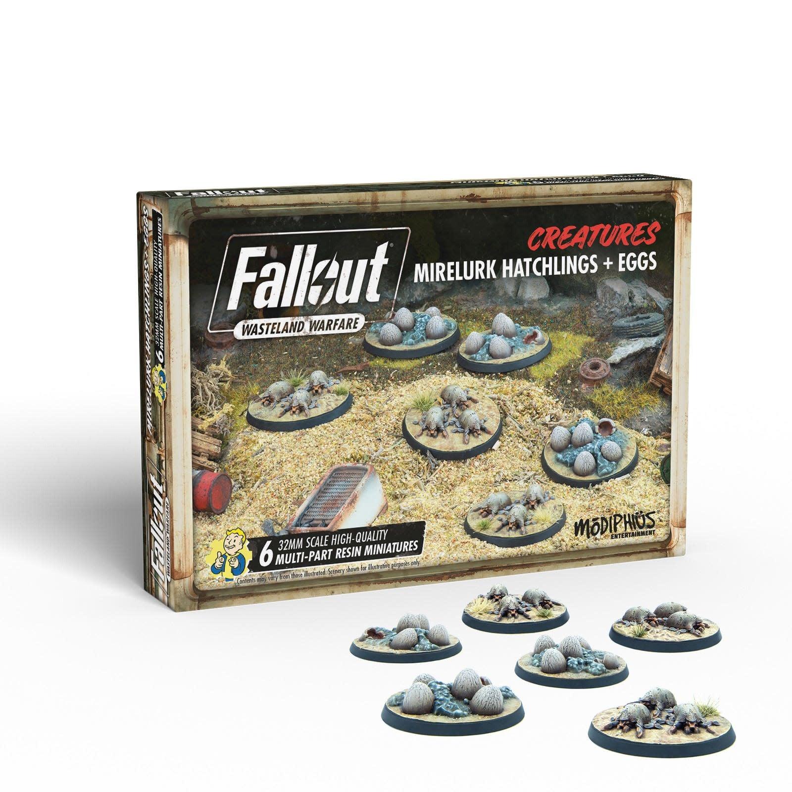 Modiphius Fallout Wasteland Warfare: Creatures- Mirelurk Hatchlings + eggs