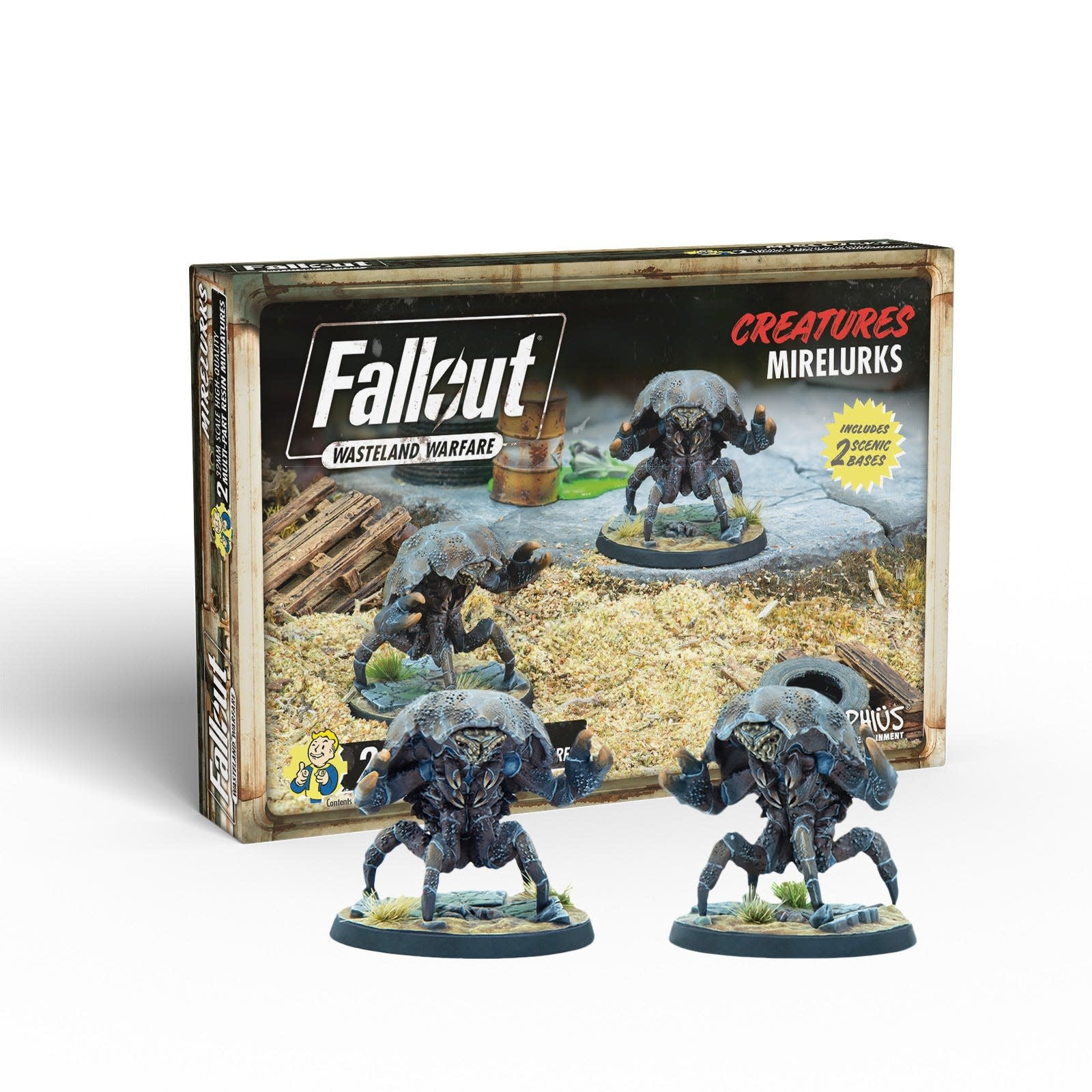 Modiphius Fallout Wasteland Warfare: Creatures- Mirelurks