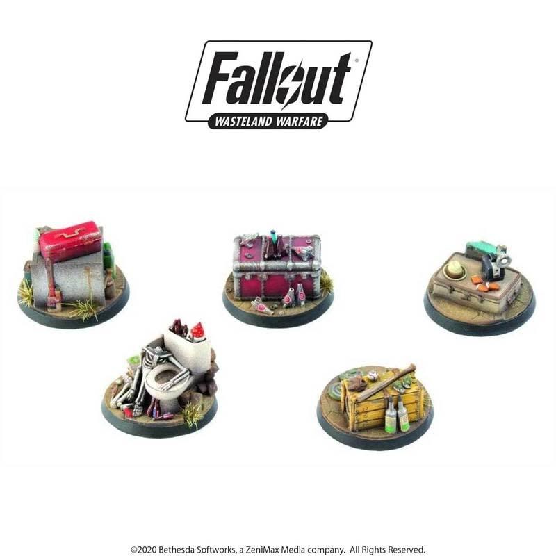 Modiphius Fallout Wasteland Warfare: Terrain Objective Markers 1