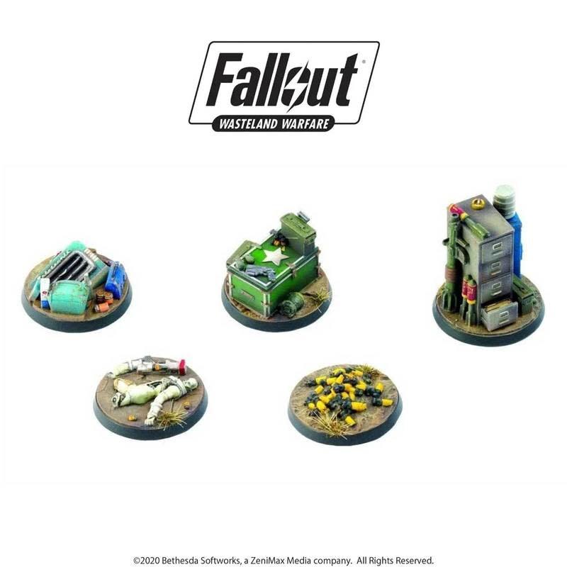 Modiphius Fallout Wasteland Warfare: Terrain Objective Markers 2
