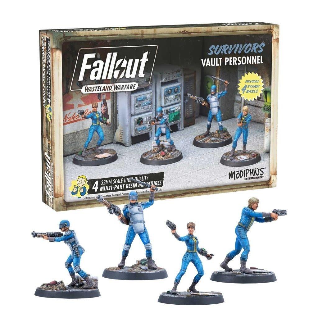 Modiphius Fallout Wasteland Warfare: Survivors- Vault Personnel