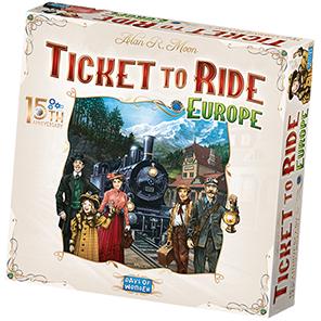 Days of Wonder Ticket to Ride Europe 15th Anniversary