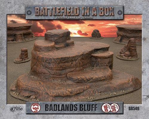 Flames of War Battlefield in a Box: Badlands Bluff terrain