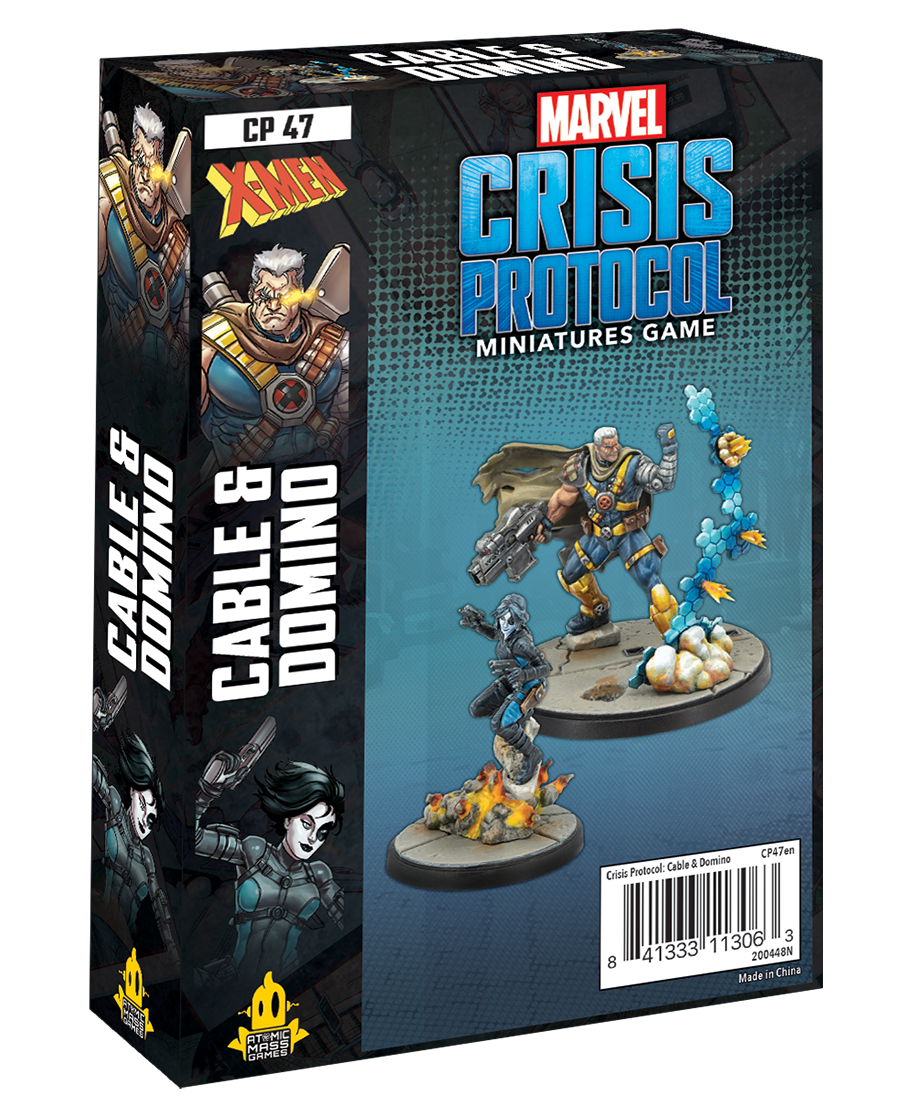 Atomic Mass Games Marvel Crisis Protocol: Cable & Domino