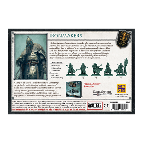 CMON Song of Ice & Fire: Greyjoy Ironmakers