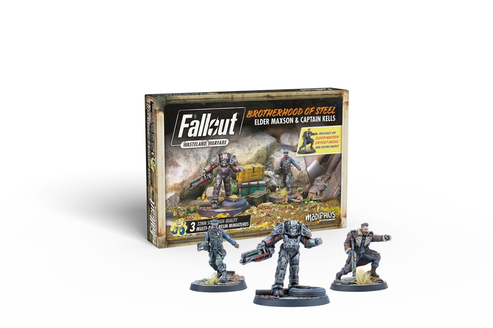 Modiphius Fallout Wasteland Warfare: Brotherhood- Elder Maxson & Captain kells
