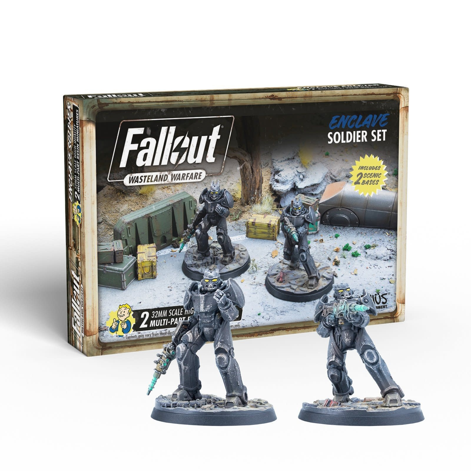 Modiphius Fallout Wasteland Warfare: Enclave- Soldier