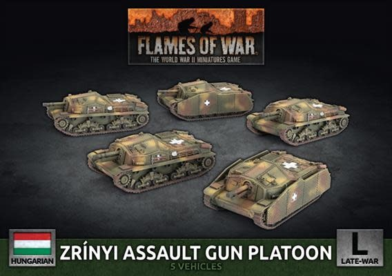 Flames of War Flames of War: Hungarian- Zrinyi Assault Gun Platoon (L)