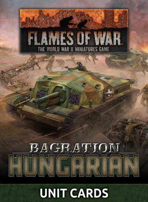 Flames of War Flames of War Unit Cards: Bagration- Hungarian