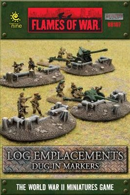 Gale Force Nine Flames of War Terrain: Log Emplacements Dug-in Markers