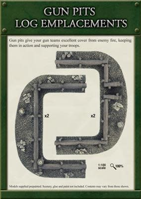 Gale Force Nine Flames of War Terrain: Gun Pits Emplacements