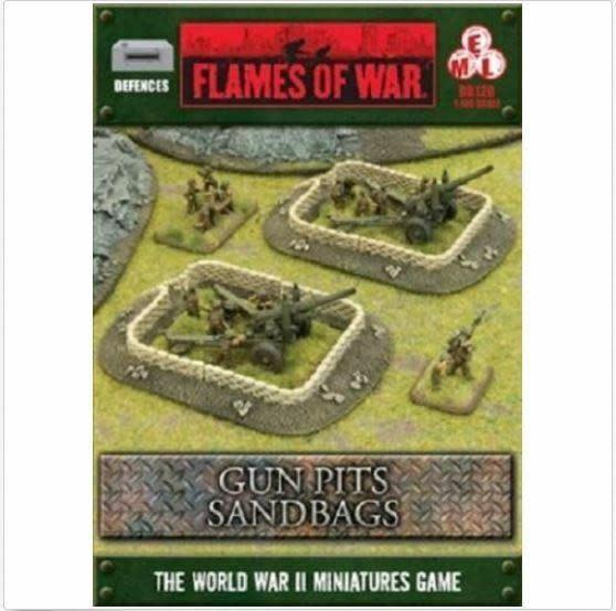 Flames of War Flames of War Terrain: Gun Pits Sandbags