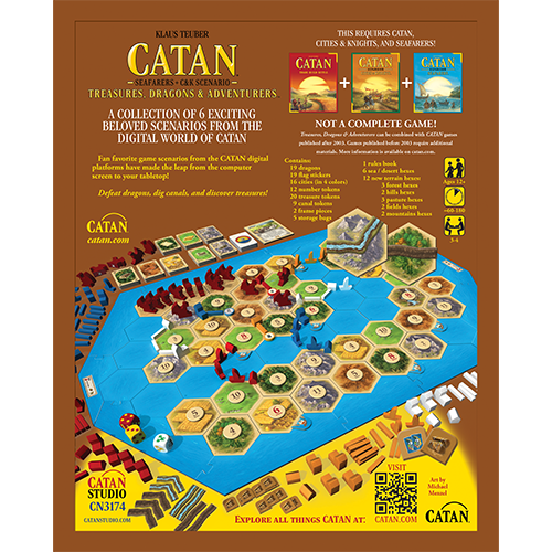 Catan Studio Catan: Seafarers scenario- Treasures, Dragons & Adventurers