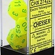 Chessex Dice: Poly 7 CubeVortex Electric YEgr