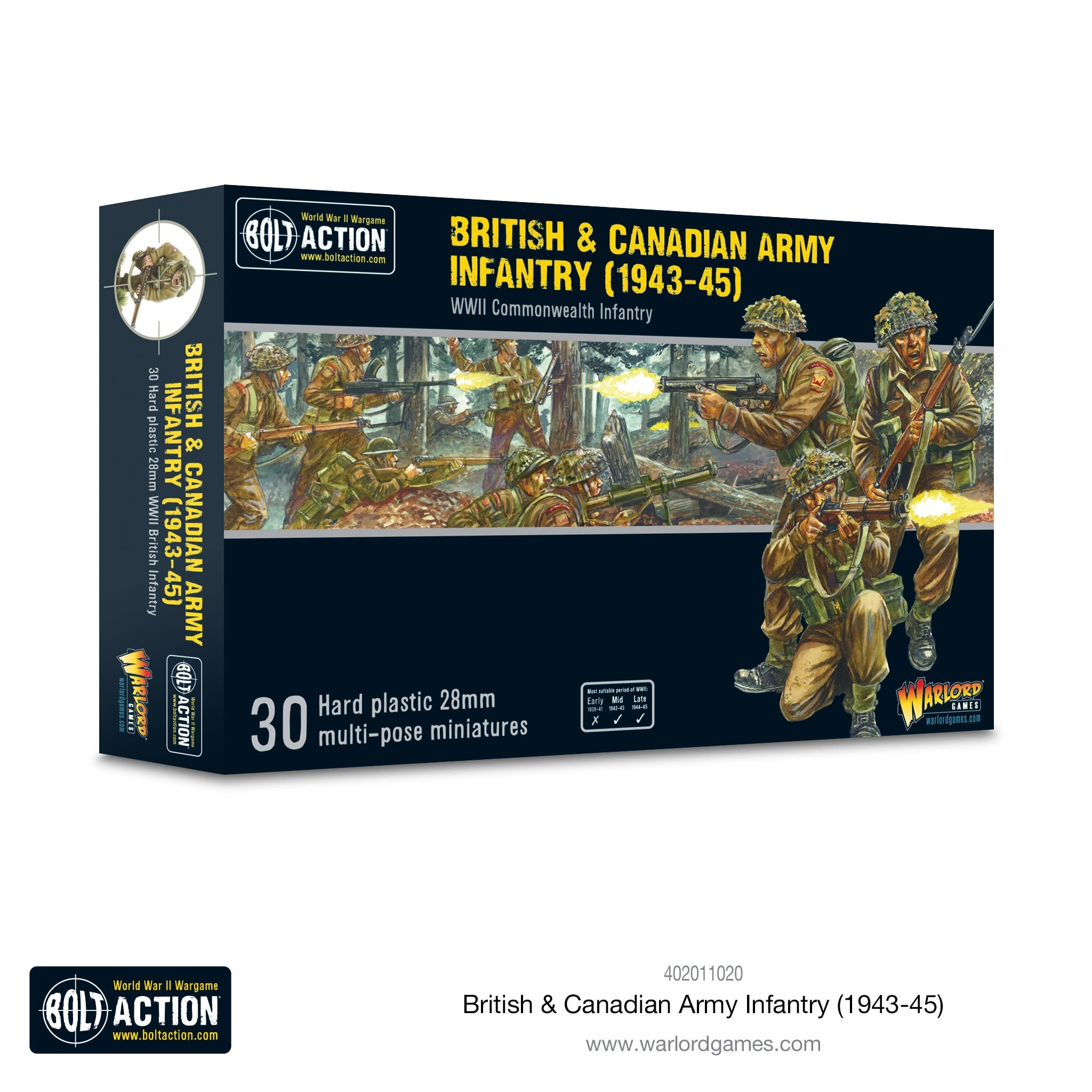Warlord games Bolt Action: British & Canadian Army Infantry (1943-45)