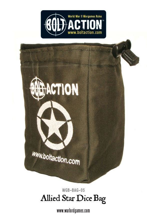Warlord games Bolt Action Dice Bag Allied Star