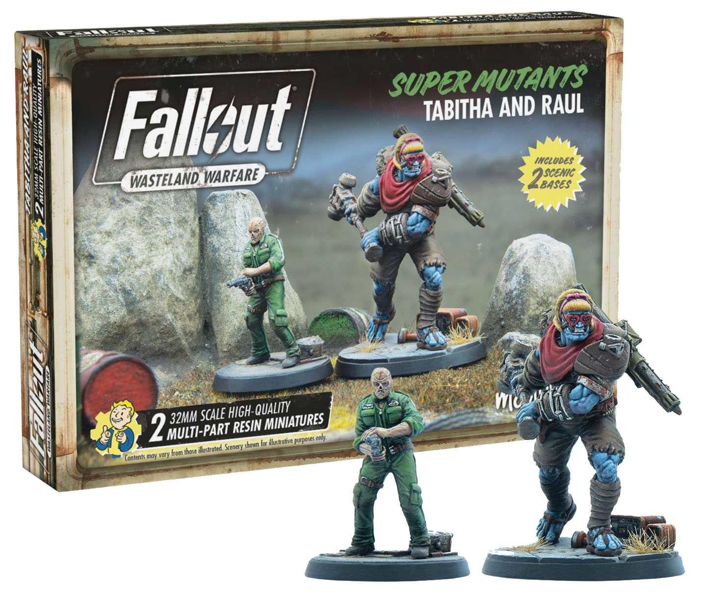 Modiphius Fallout Wasteland Warfare: Super Mutants Tabitha and Raul