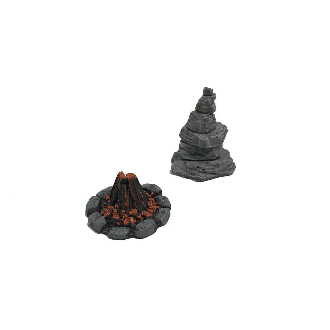 Monster fight club Monster Scenery: Fire and rock