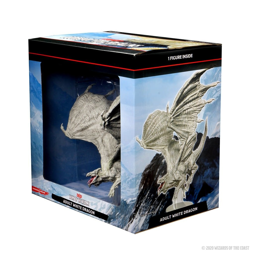 Wizards of the Coast D&D Icons of the Realm Miniature: Adult White Dragon