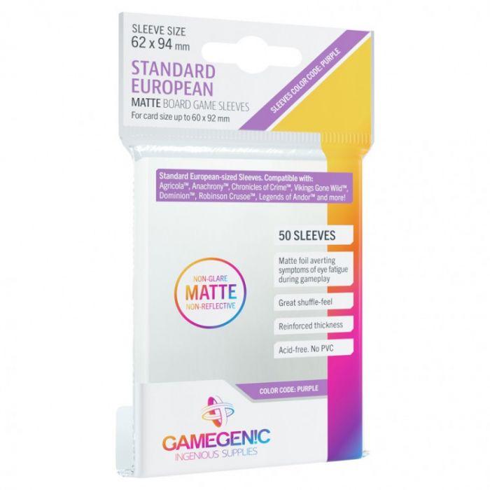 Gamegenic Gamegenic Sleeves Matte: Standard European (62x94)
