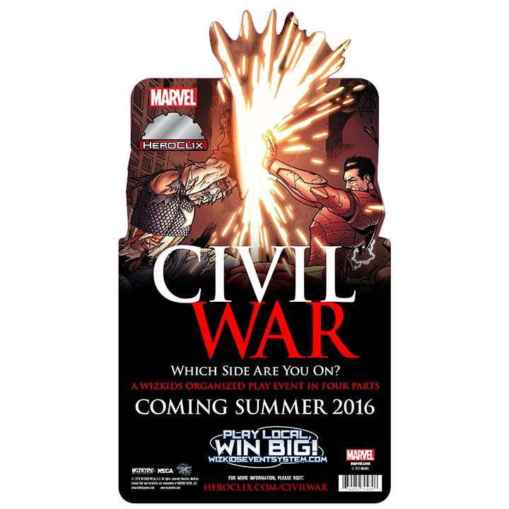 Wizkids Marvel Heroclix Civil War Starter