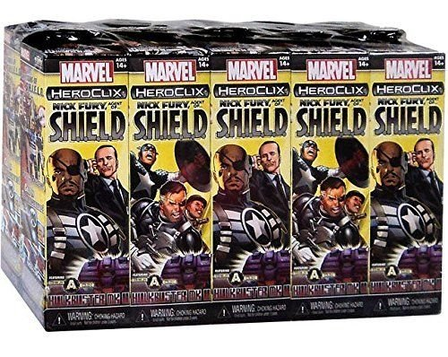 Wizkids Marvel HeroClix: Nick Fury, Agent of SHIELD 10 Count Booster Brick