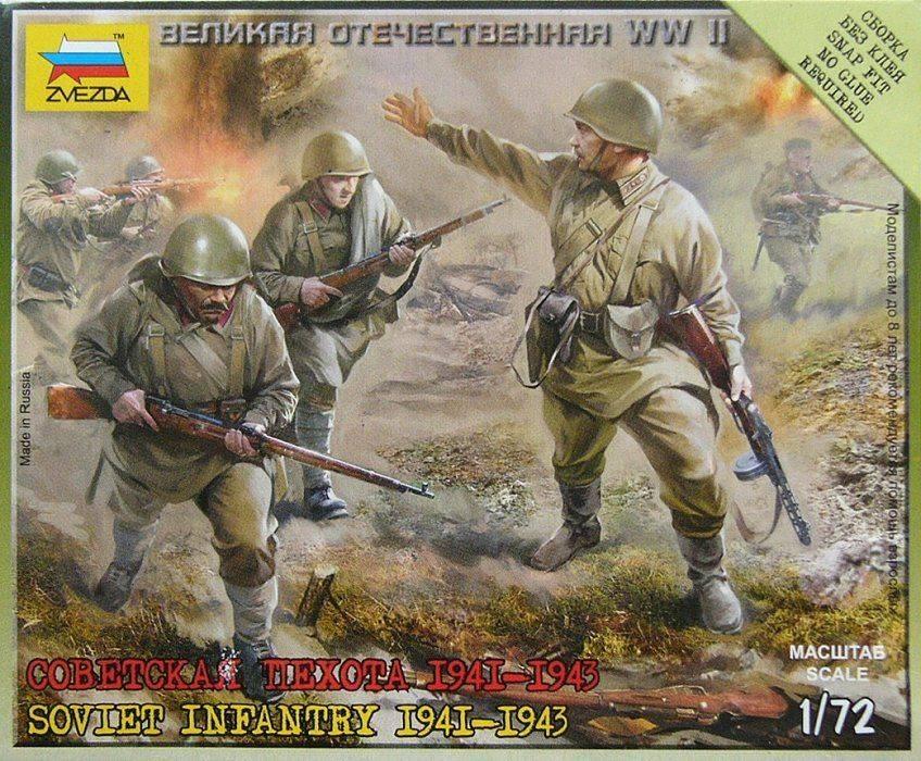 Soviet Infantry 1941-1943 1/72 scale