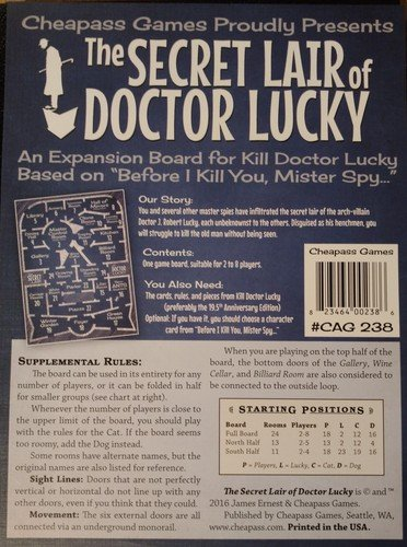 Cheepass games The Secret Lair of Doctor Lucky Expansion